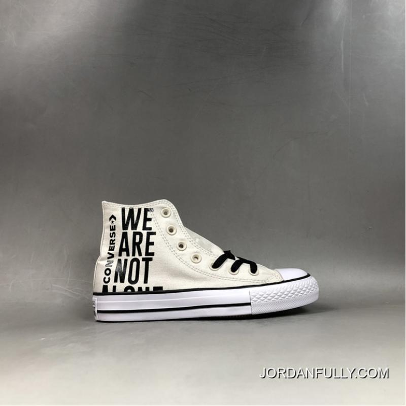 chuck taylor all star we are not alone high top